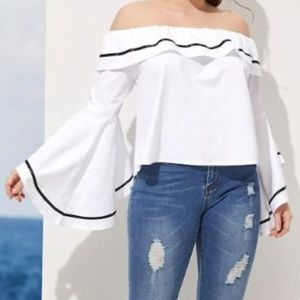 NWOT Off-Shoulder Bell Sleeve Blouse